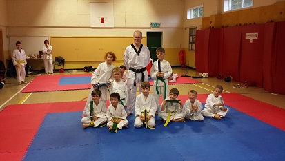 The Mighty Mites with their new belts