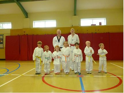 The succesful Alveston Mighty Mites with their new belts